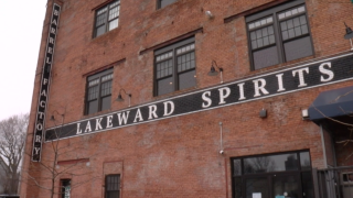 Lakeward Spirits making and donating hand sanitizer to Buffalo fire and police