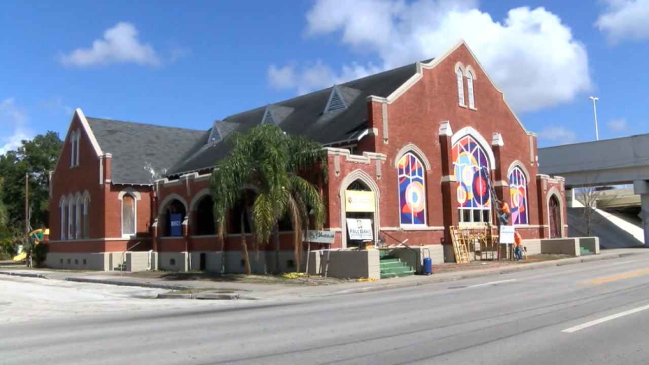 former Faith Temple Baptist Church in Tampa Heights