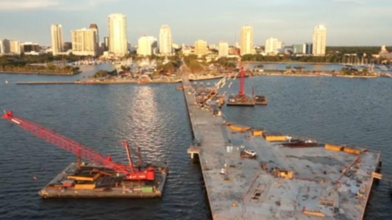 Vertical construction begins on St. Pete Pier