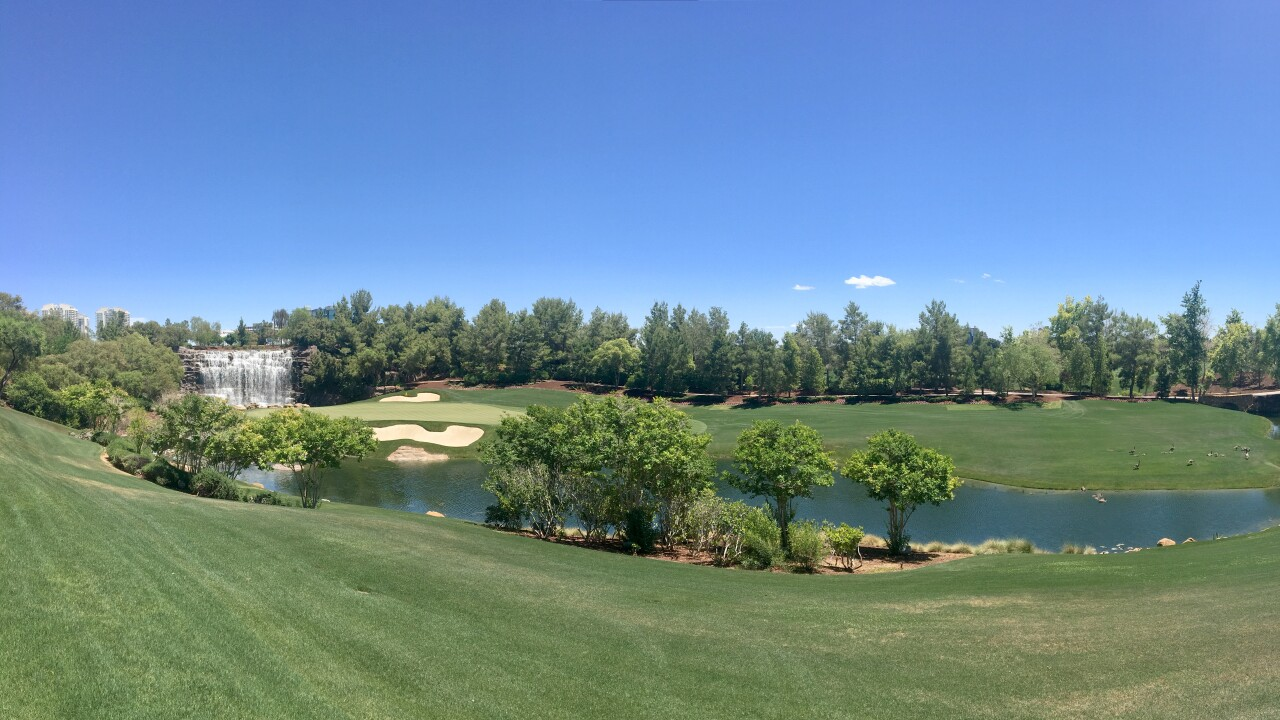 The Wynn Golf Club reopened Monday, making it the first major strip amenity to do so