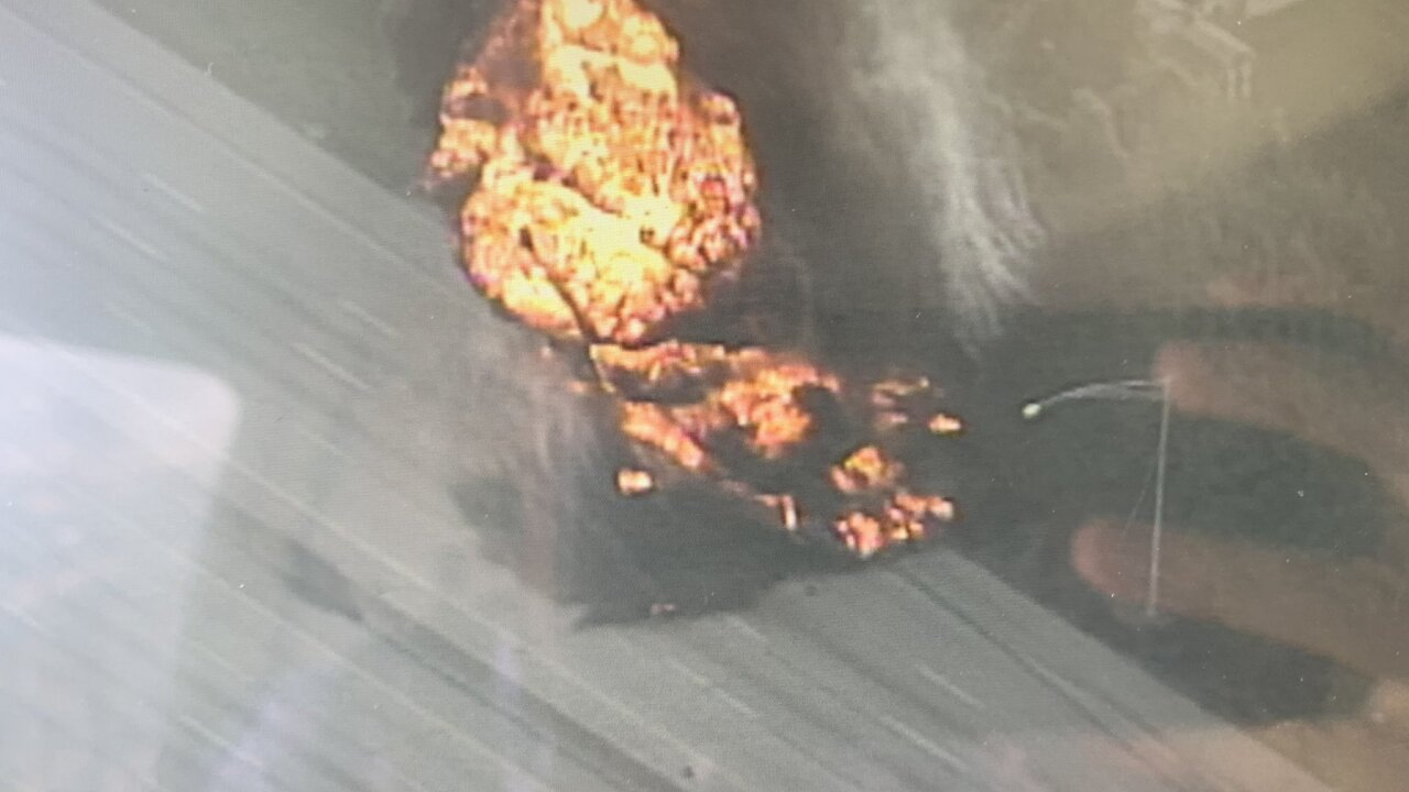 vehicle fire on route 8