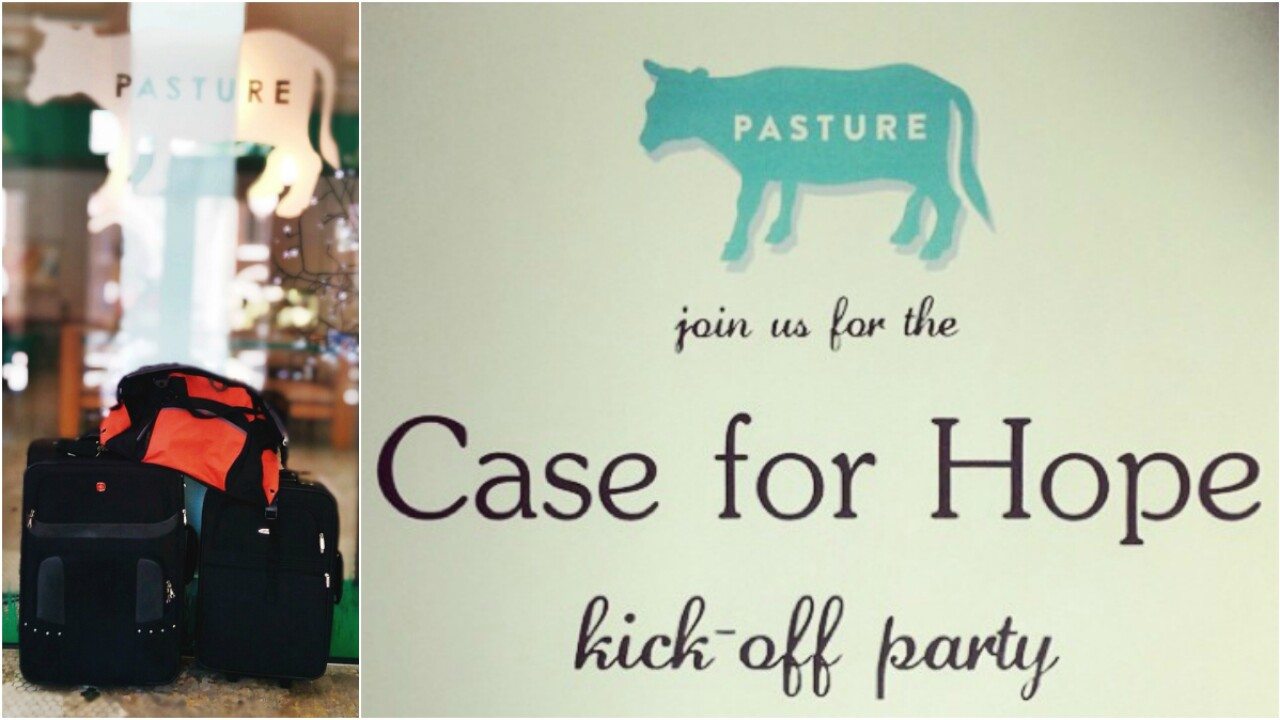 Pasture collects luggage, bags for homeless children