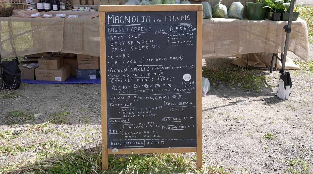 Magnolia Farms at the Allen Neighborhood Center farmers market
