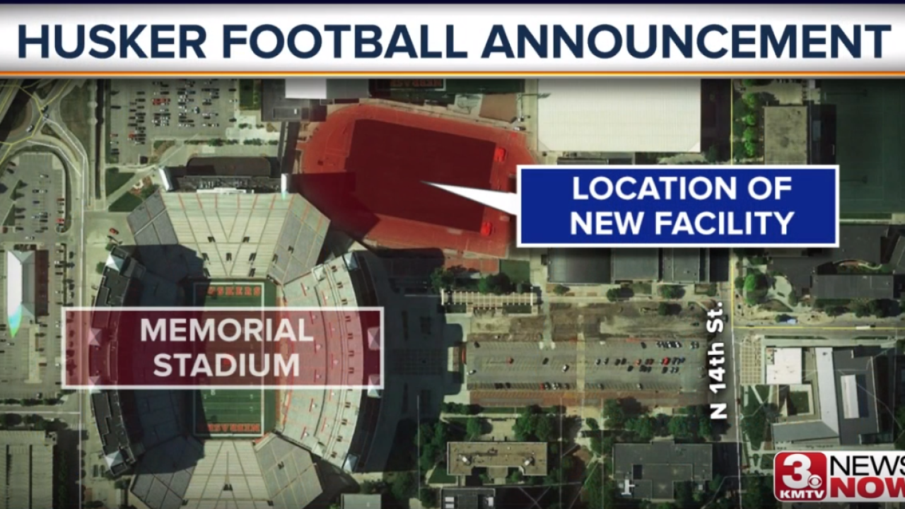Husker football map