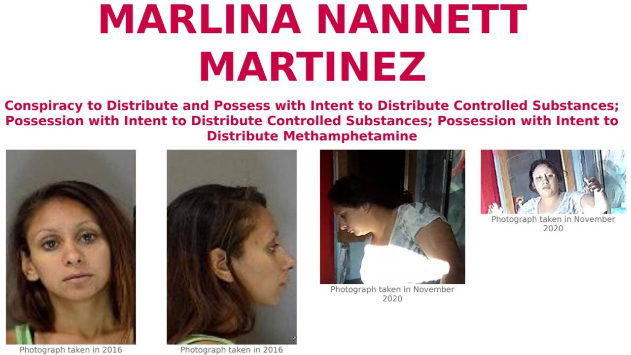 FBI is offering a reward of up to $2,500 for information leading to the arrest and conviction of Marlina Nannett Martinez