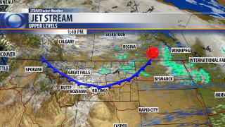 Dry cold front Tuesday afternoon