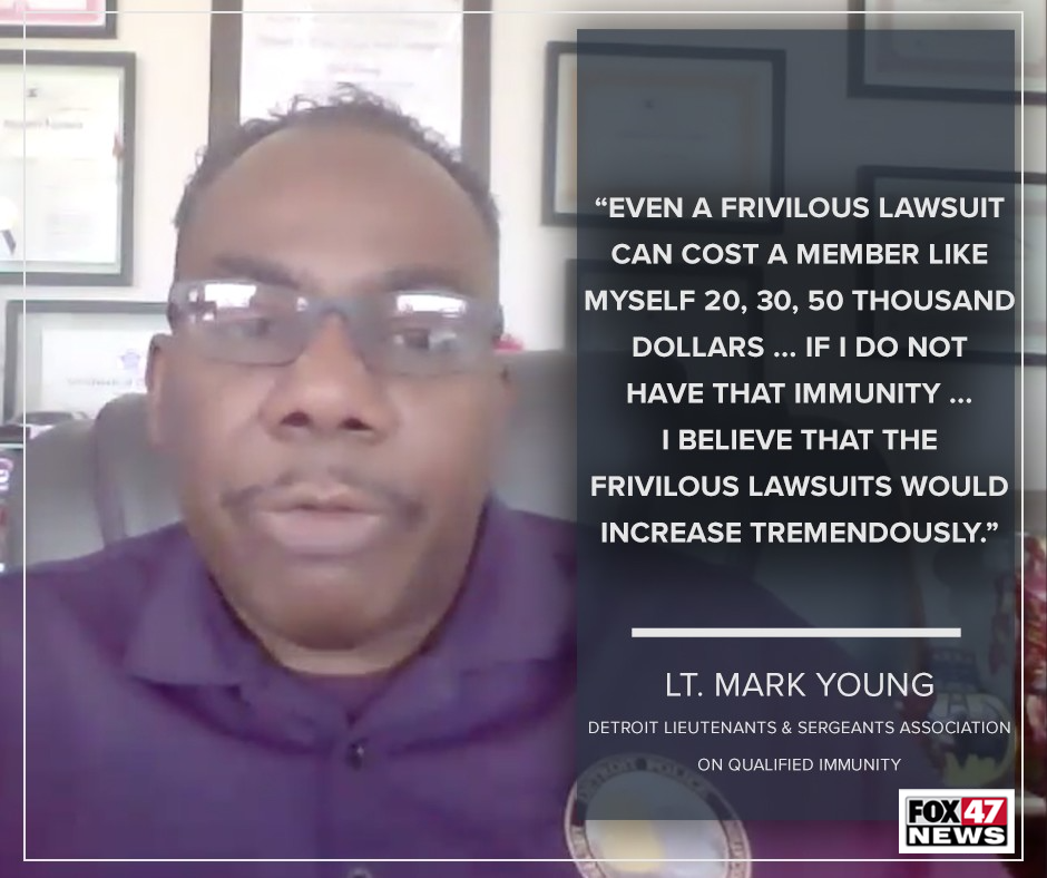 Lt. Mark Young on qualified immunity