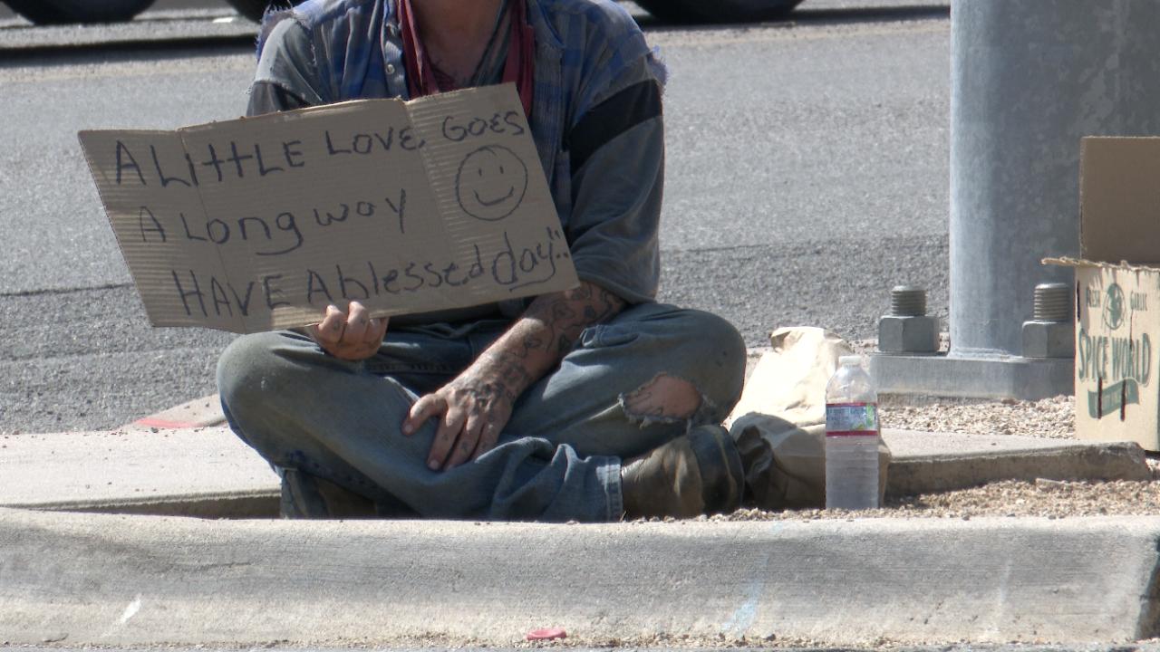 Sierra Vista man sitting on curb