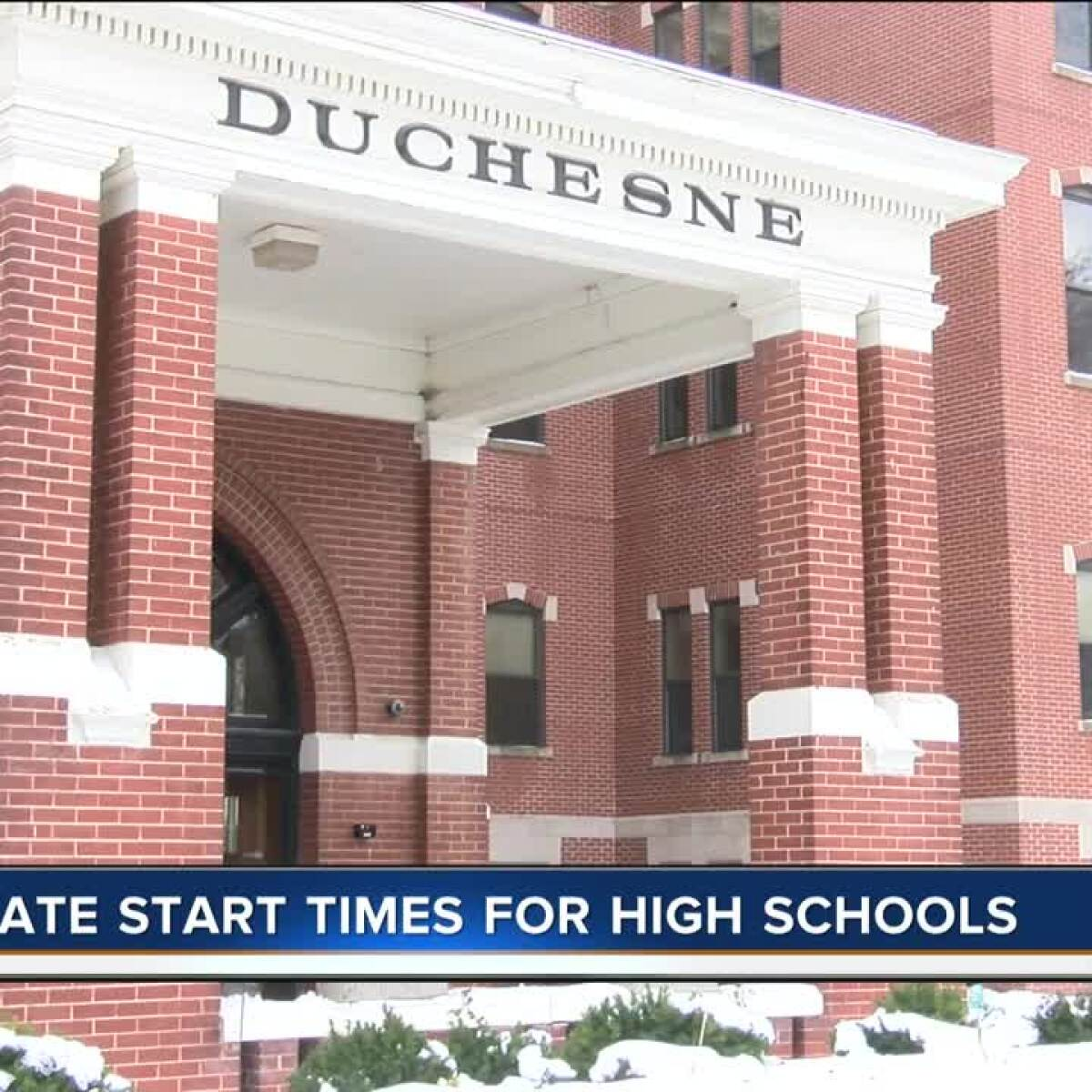 Duchesne changing school hours for student health