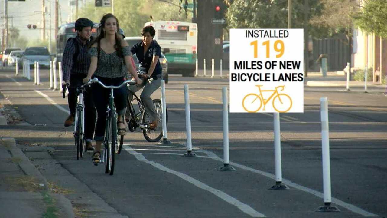 Bike lanes in Phoenix