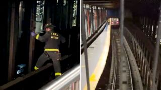 Woman pushed onto subway tracks in Union Square