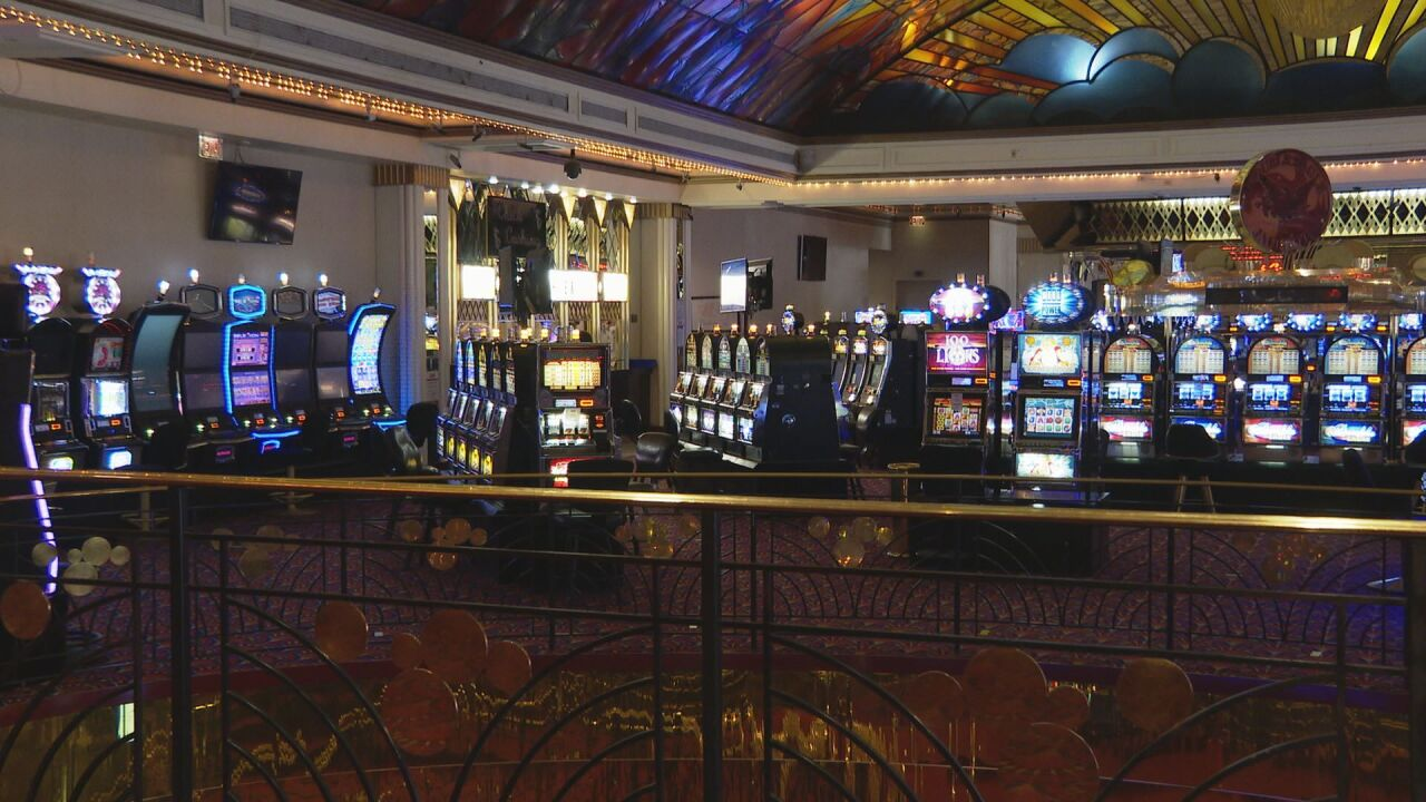 Machines inside the Double Eagle Hotel & Casino in Cripple Creek.