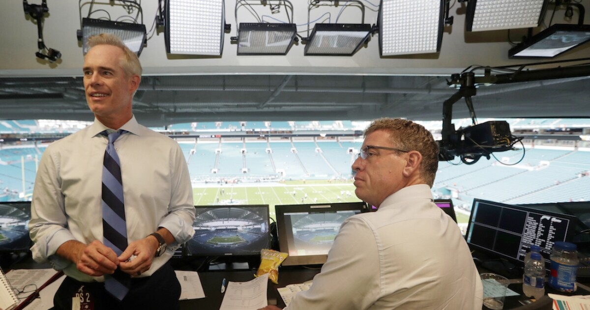 Announcers Joe Buck, Troy Aikman reportedly caught on hot ...