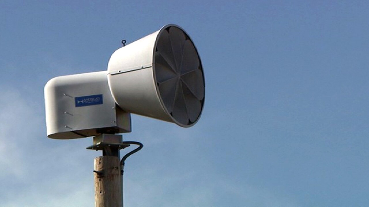 Monthly outdoor warning siren test to be conducted in Johnson County, KS