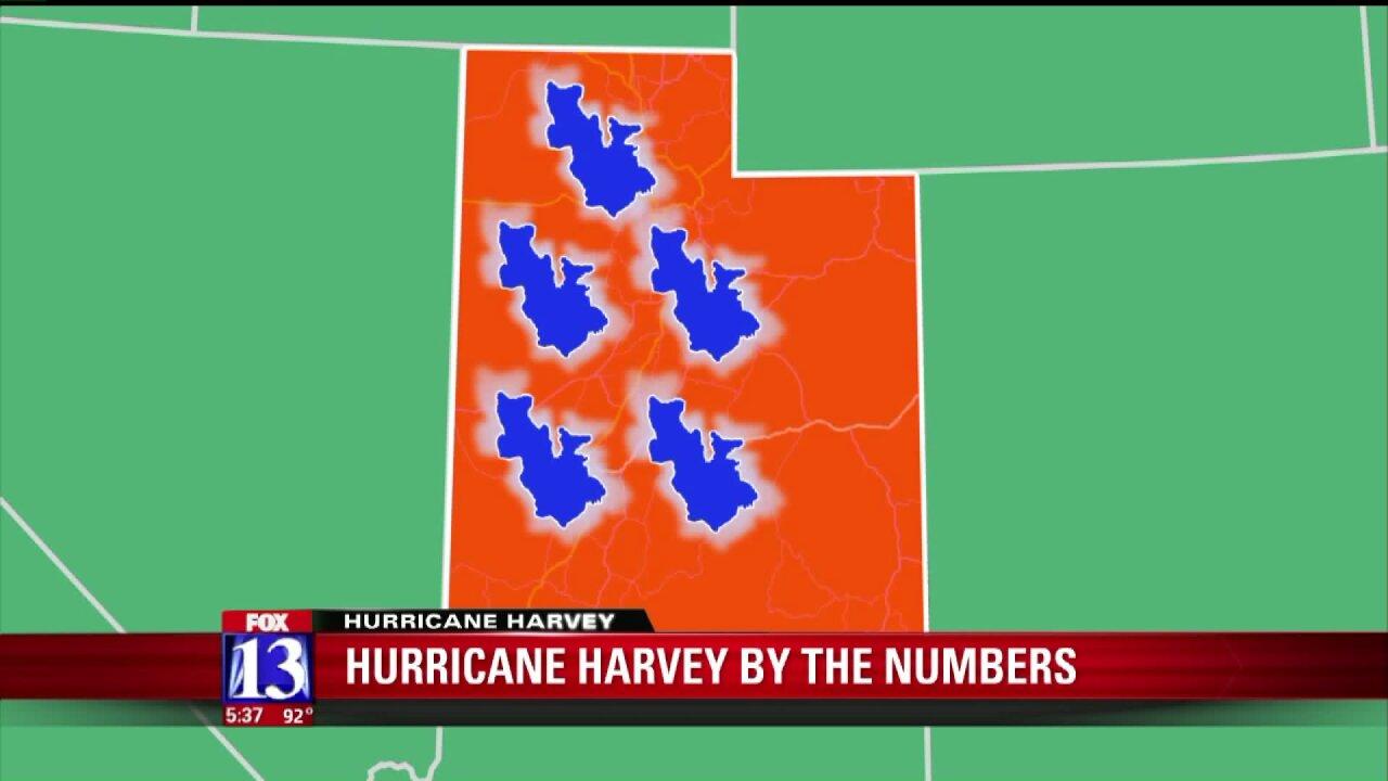 How big is Harvey? A Utahperspective