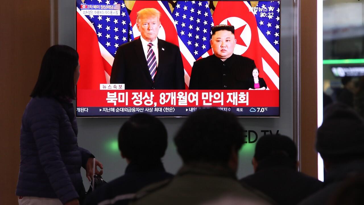 U.S. President Trump Meets North Korean Leader Kim Jong-un In Hanoi