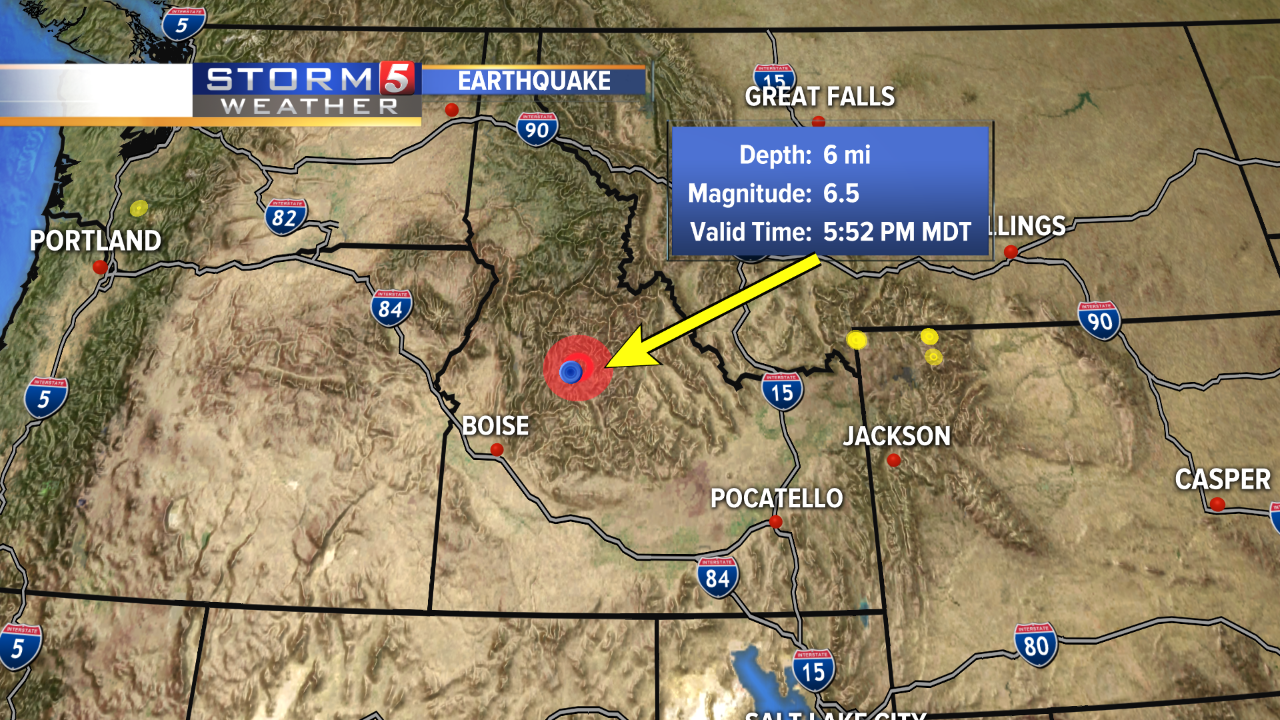 6.5 earthquake hits central Idaho
