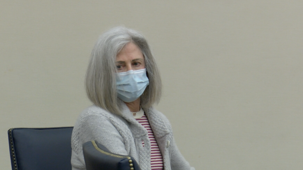Woman charged with hitting girl exiting school bus pleads not guilty