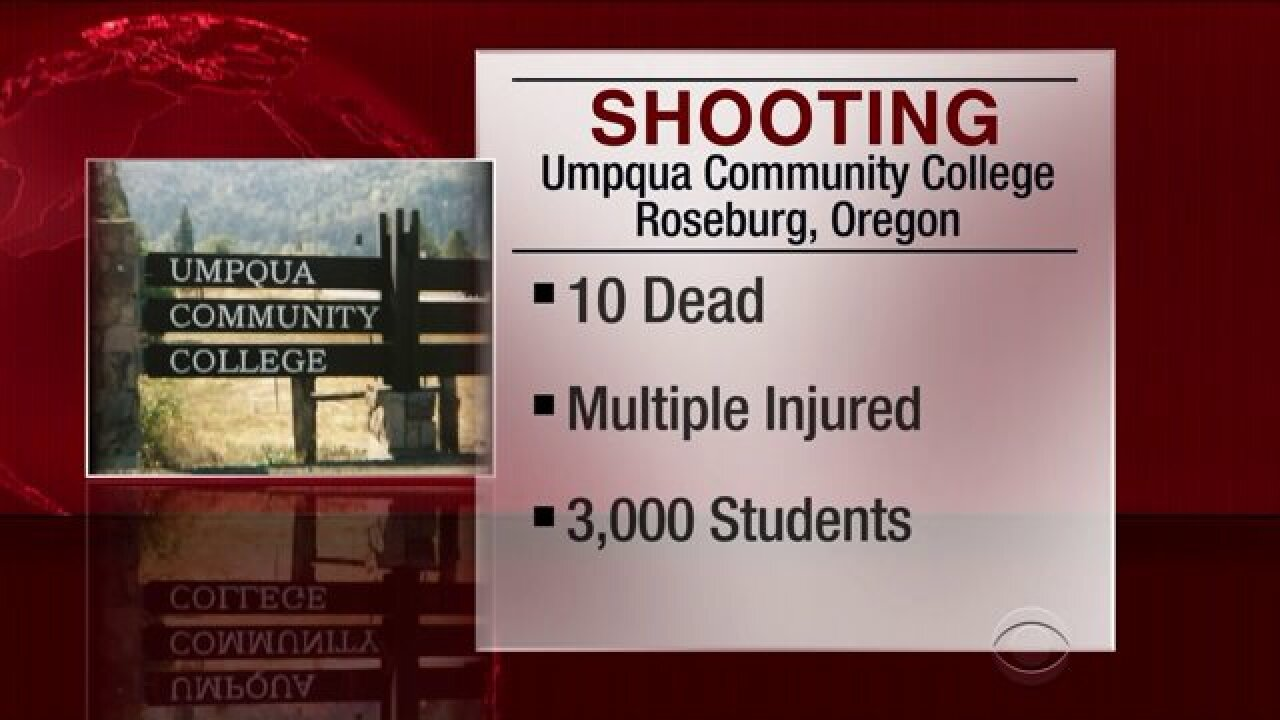 10 killed, more than 20 injured in Oregon community collegeshooting
