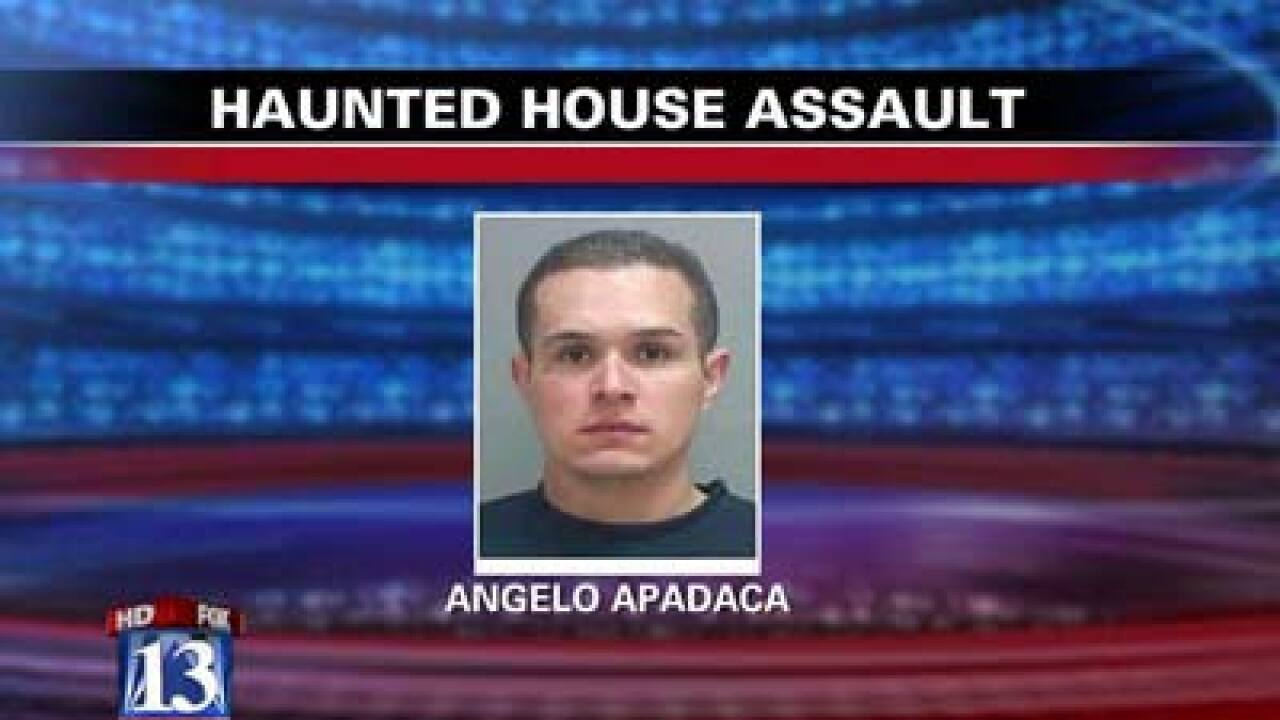 Man accused of punching woman at SLC haunted house