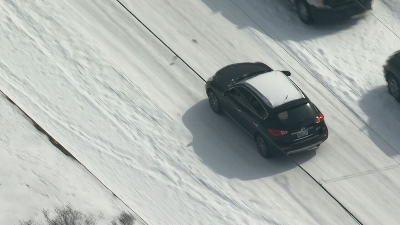 snow car and road