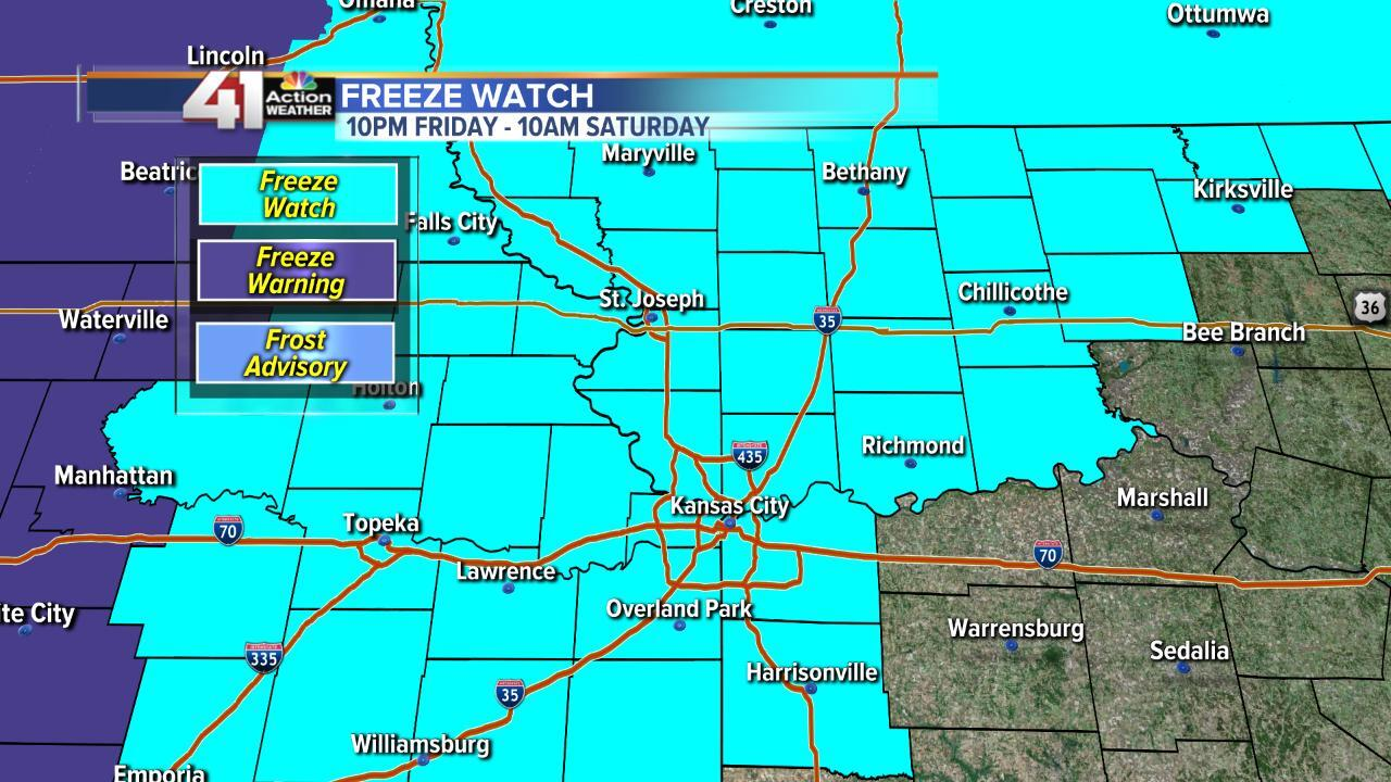 Freeze watch Friday 10/11/19