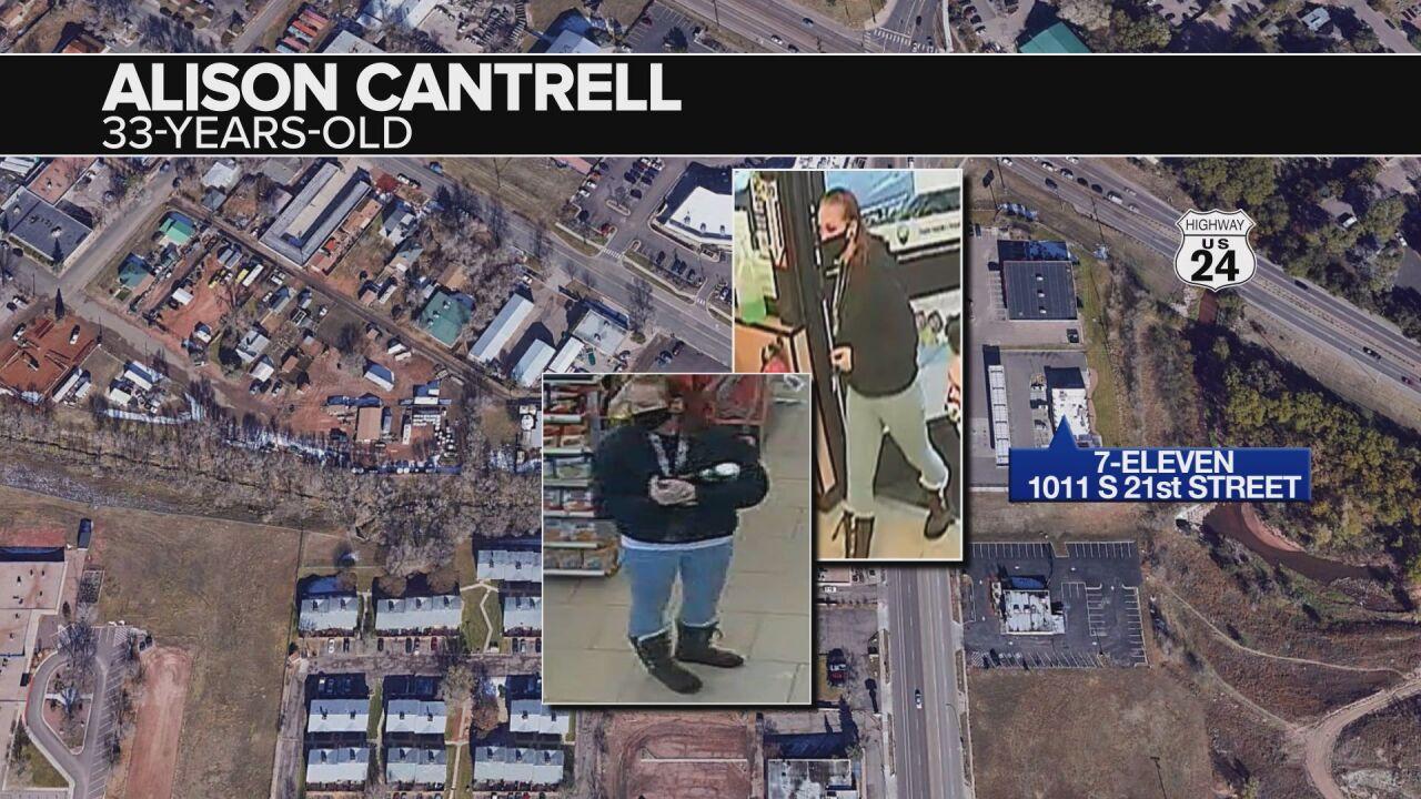 7-11 surveillance photographs of Alison Cantrell