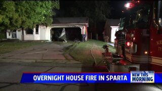 Cats alert homeowner to house fire overnight in Sparta