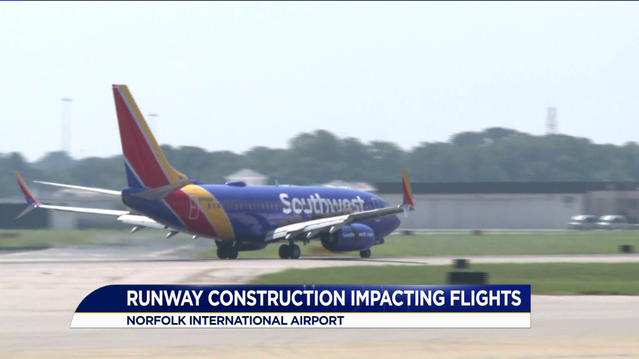 Norfolk International Airport starts runway rehabilitation project causing nightly closures