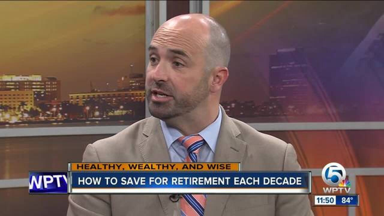 Advice on saving for retirement each decade of your life