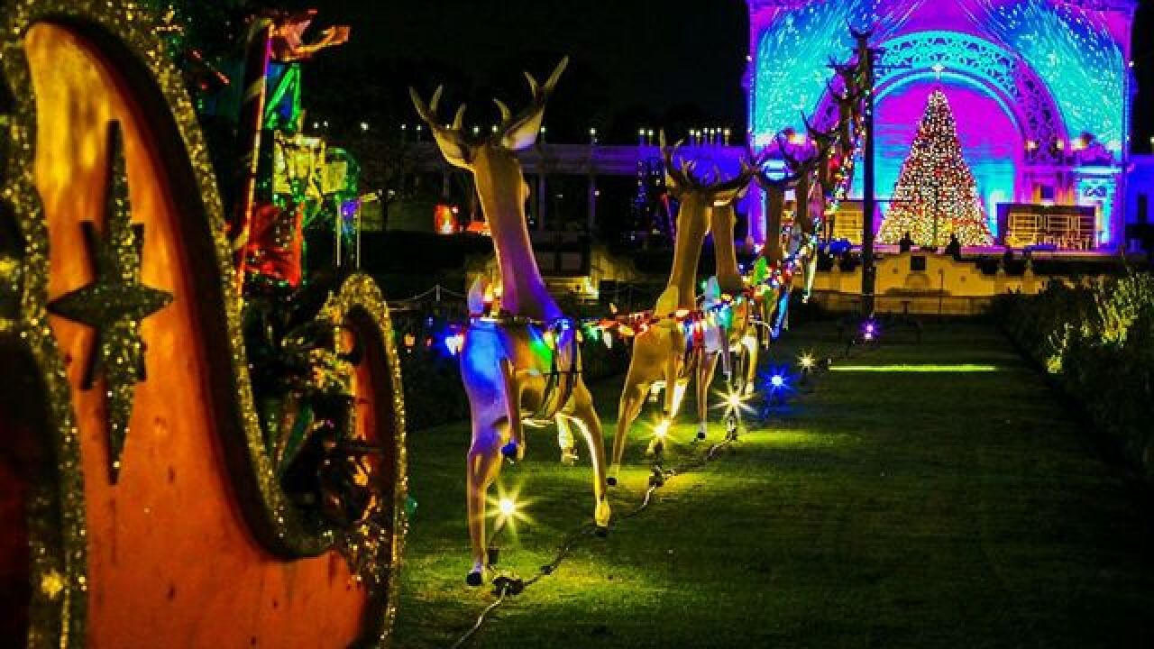 Balboa Park Christmas Lights 2020 San Diego County holiday events adapt amid coronavirus pandemic