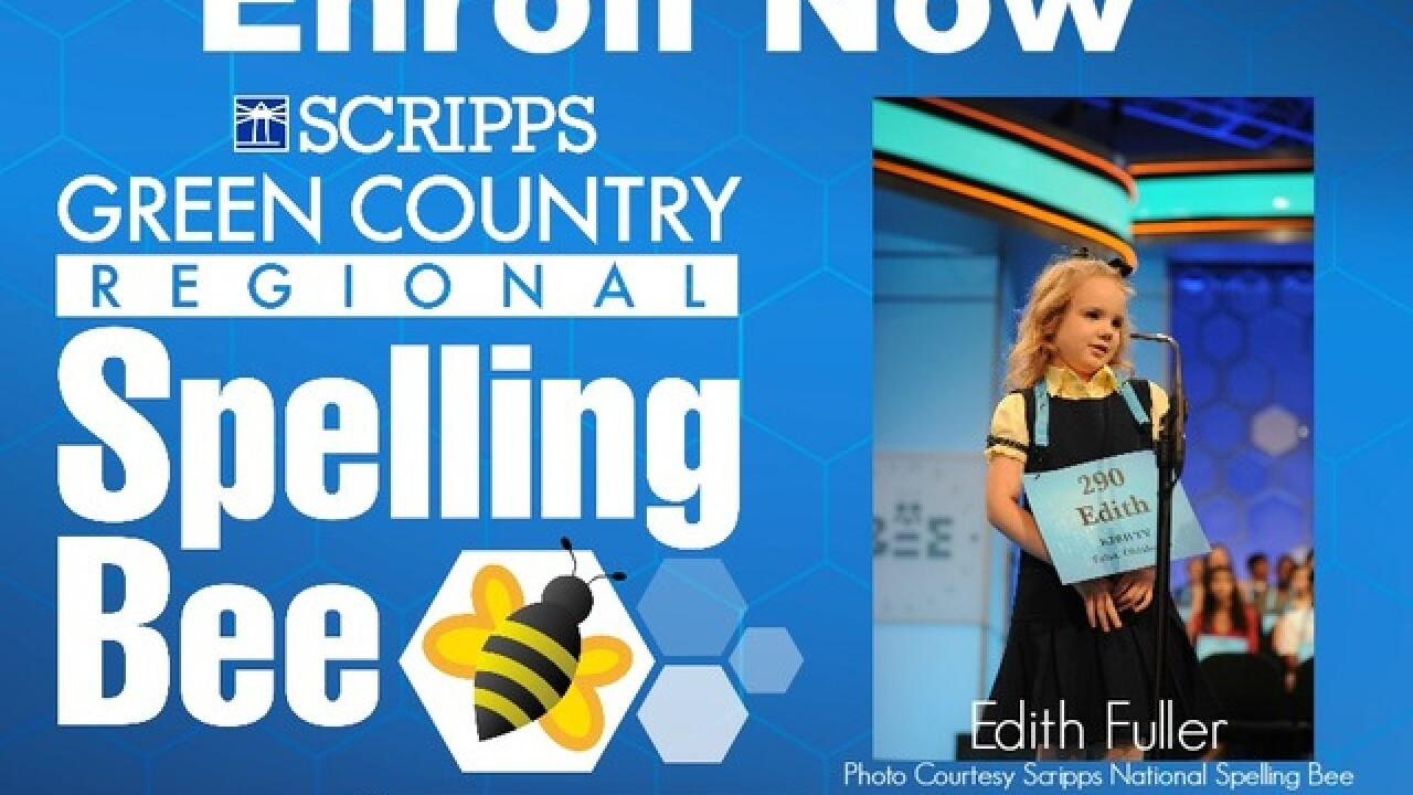 Enroll now: 2018 Scripps Green Country Regional Spelling Bee. Chance to go to Scripps National Bee