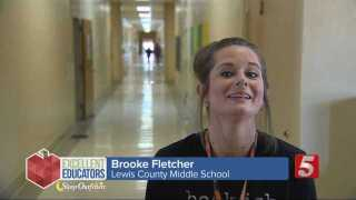 Lewis County Middle School 6th Grade Teacher Brooke Fletcher