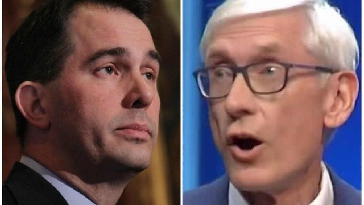 Marist College poll gives Democrat Tony Evers lead over Republican Gov. Scott Walker