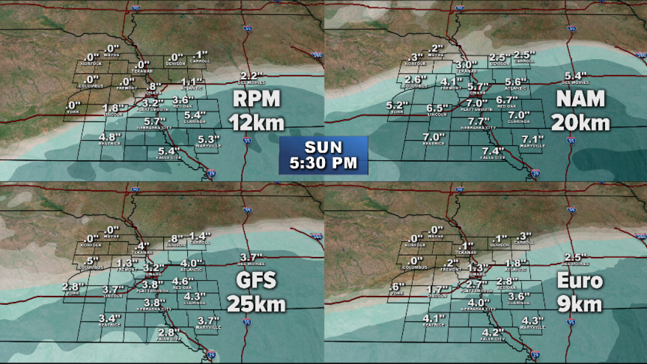 Snow Total 4 Panel Forecast Map.png