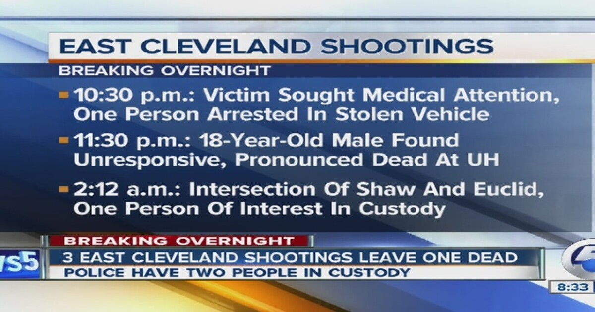 Police investigate 3 weekend shootings in E  CLE