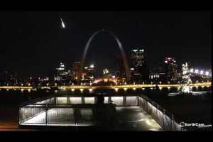 Views of St. Louis Meteor Courtesy of EarthCam
