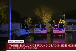 Three small kids found dead inside Phoenix home