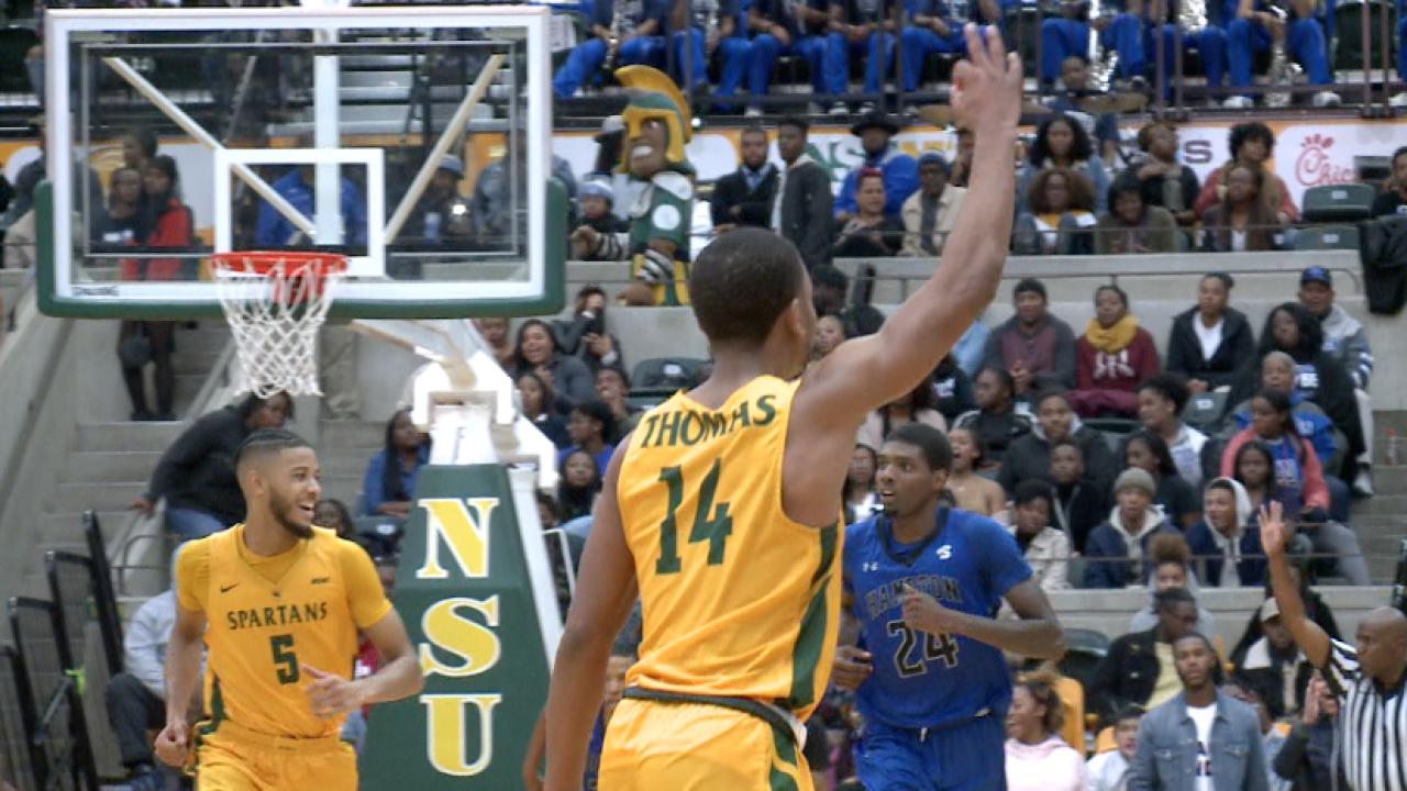 NSU men's hoops prevails over Hampton in double overtime 'Battle of theBay'