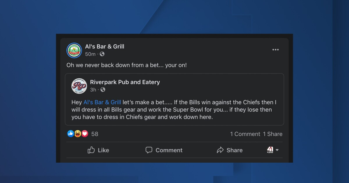 Parkville bar issues bet ahead of Chiefs, Bills game