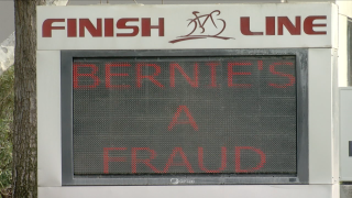 Bernie's a Fraud sign