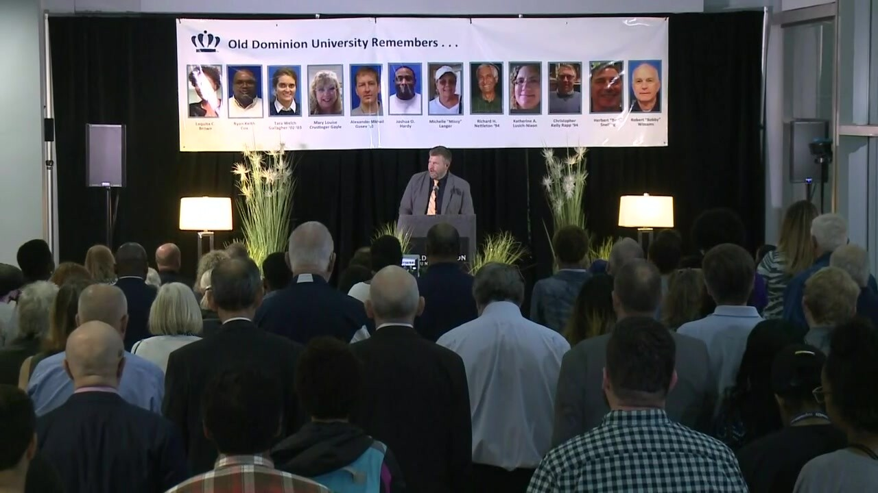 Watch: ODU remembers victims and former students during vigil