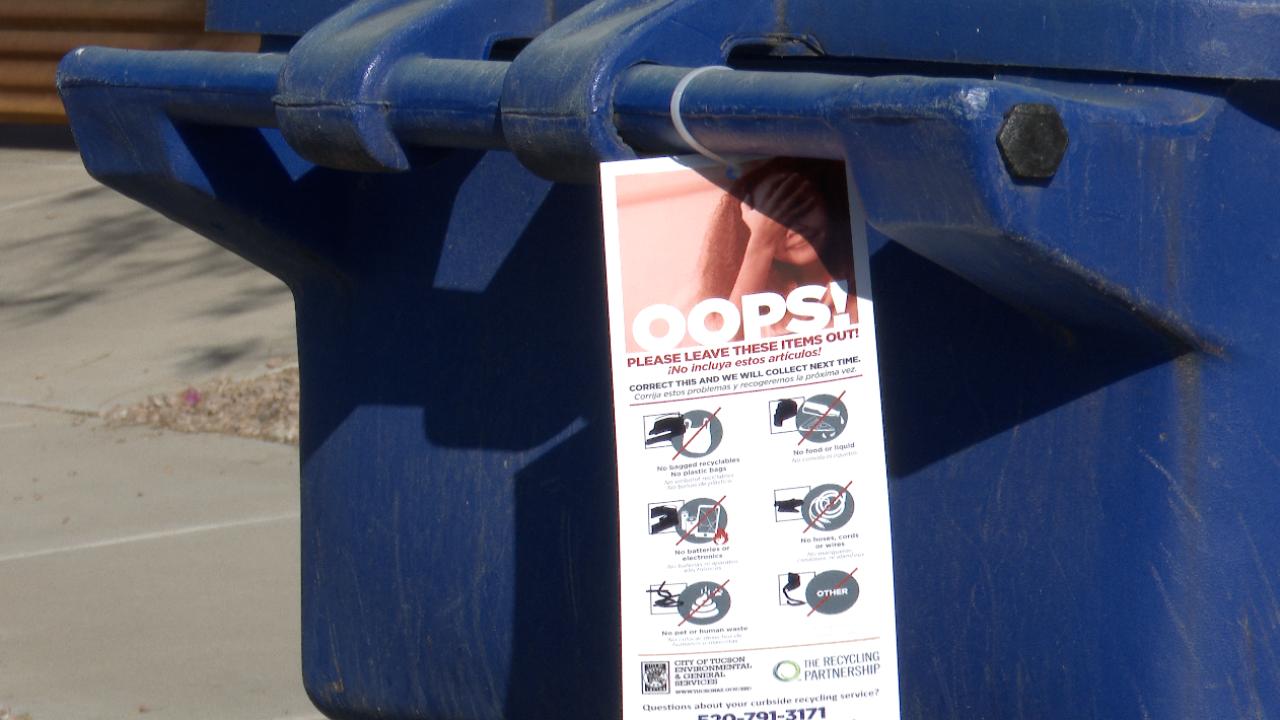 City of Tucson recycle bins