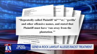 Former Geneva Rock employee suing for racism, harassment on the job