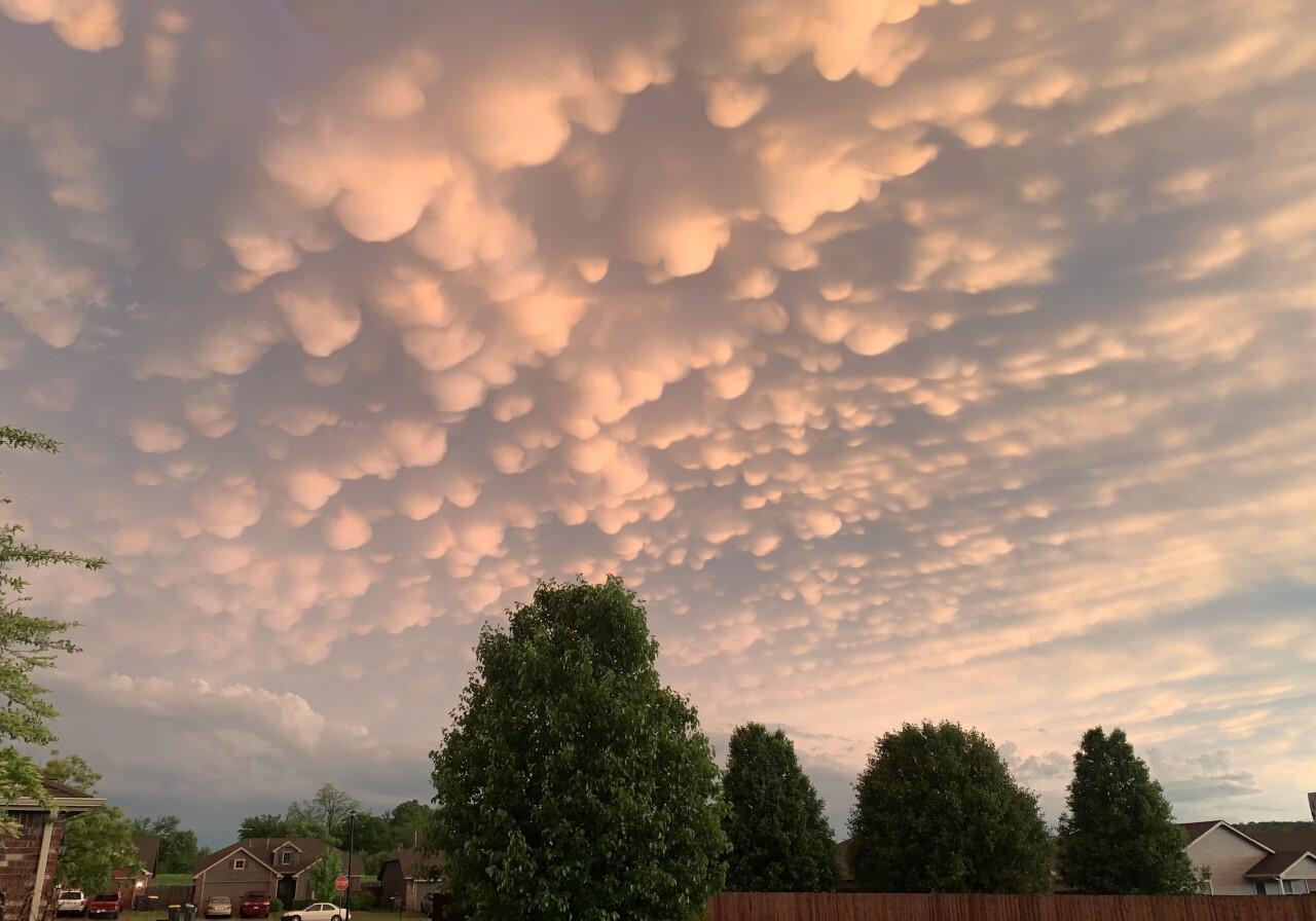 Mammatus Clouds in Jenks, Ok