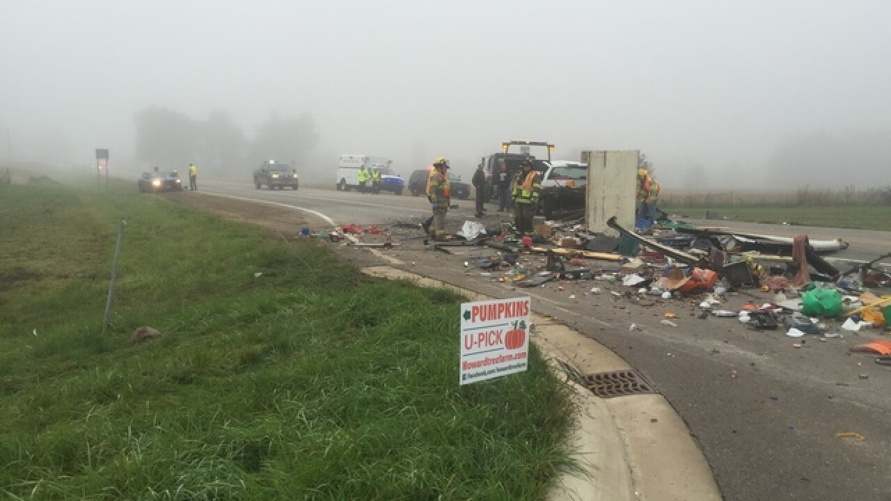 Minor injuries reported in morning accident,...