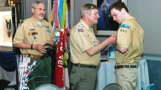 Timmy Hargate, 21, who has nonverbal autism, joined Boy Scout Troop 461 in Highland Heights, Ohio, when he was 11. He was determined to become an Eagle Scout, and after about nine years of hard work, he finally achieved that goal in December.