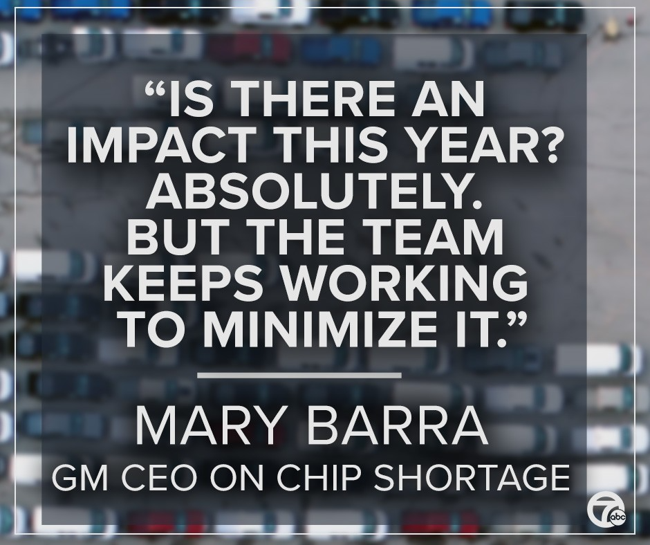 Quote by Mary Barra, GM CEO on Chip Shortage