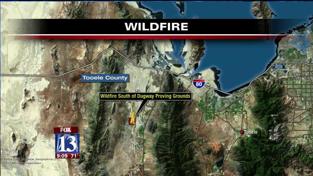 Tooele County wildfire contained after 40 acres charred