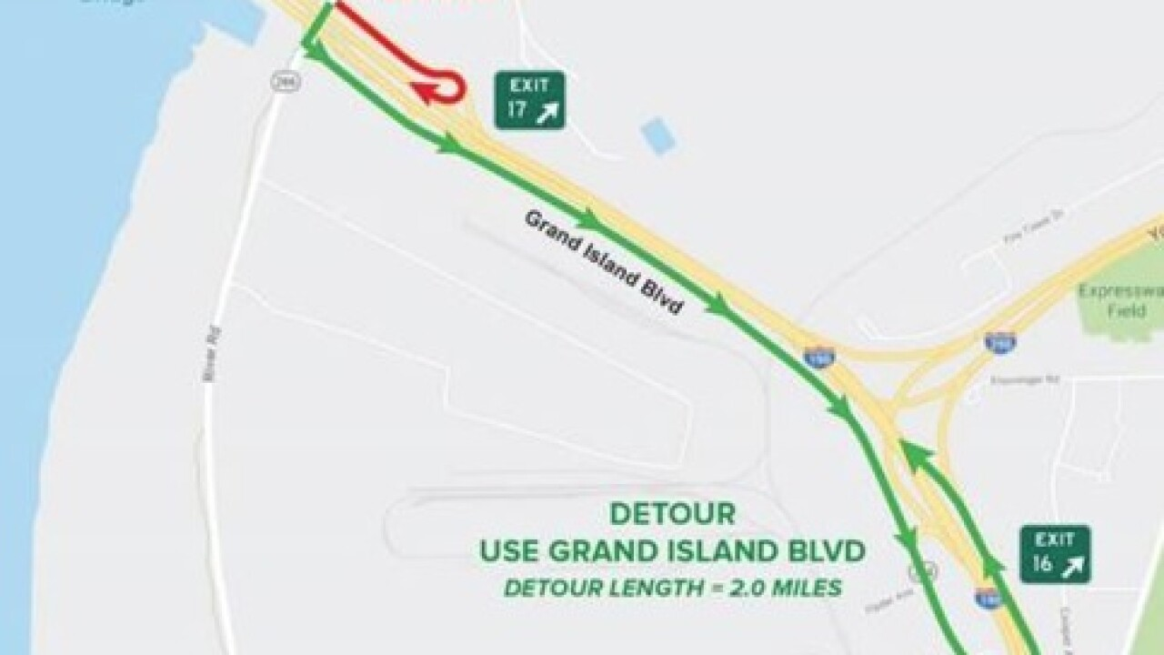 River Road On Ramp To I 90 North Closes May 15th